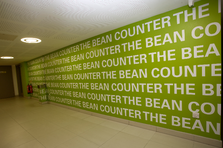 Large format café wall graphics