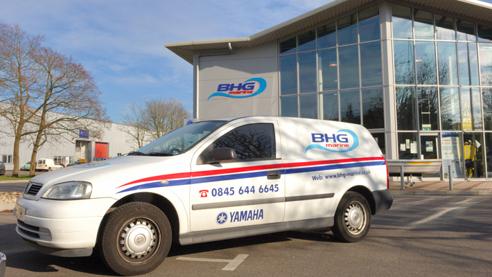 Vehicle branding – A simple design, but a very cost effective way of keeping you company image visible.