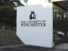 Fret cut, stand-off, powder-coated aluminium lettering helps create a very grand campus entrance.