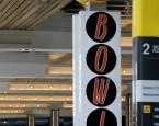 1. Bespoke fabricated LED illuminated stainless steel & acrylic column mounted signage double sided.