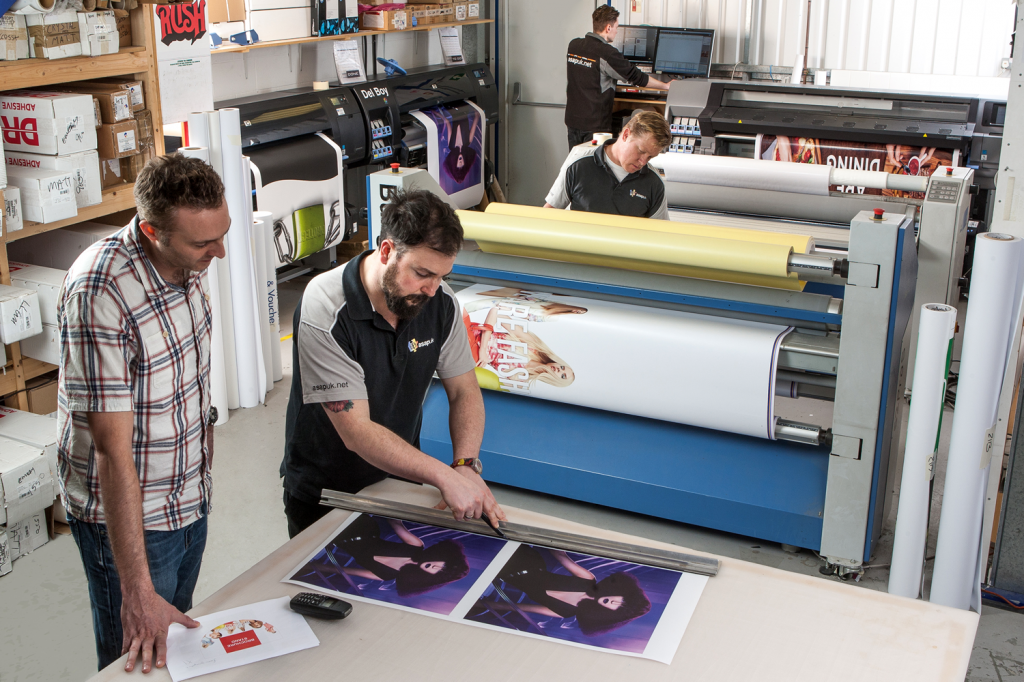 ASAP UK team working with HP Latex 360 Prints